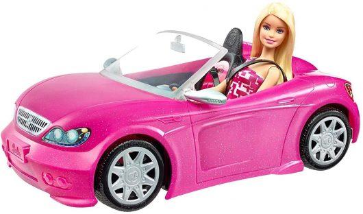 Muñeca Barbie y su coche descapotable