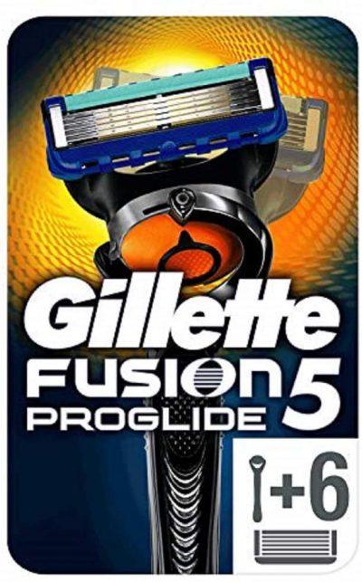 Gillette Fusion5 ProGlide + 6 recambios.