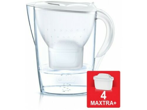 Jarra Brita Marella Blanca 2.4L + 4 filtros MAXTRA.
