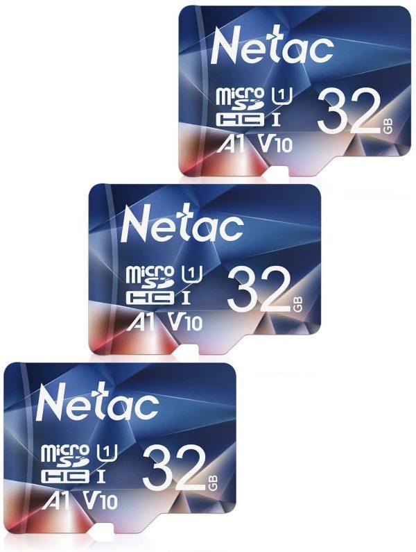 Pack de 3 Tarjetas de Memoria Netac de 32GB