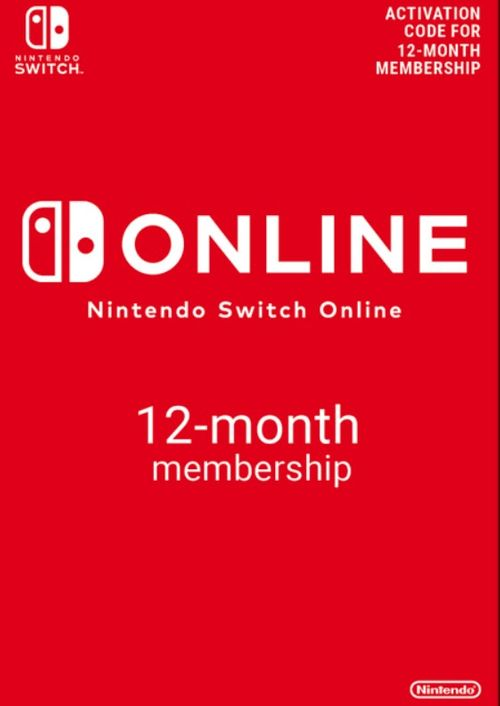 Nintendo Switch Online 12 Month (365 Day) Membership Switch.