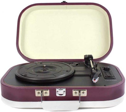 Tocadiscos de Vinilos Vintage y Reproductor mp3, 2 Altavoces Incorporados.