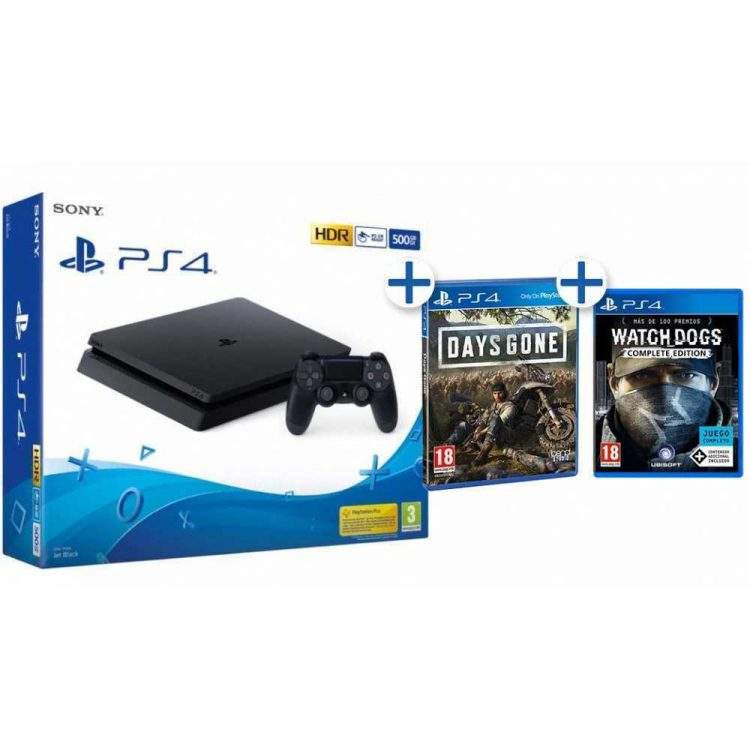 PS4 500GB + DAYS GONE + WATCHDOGS