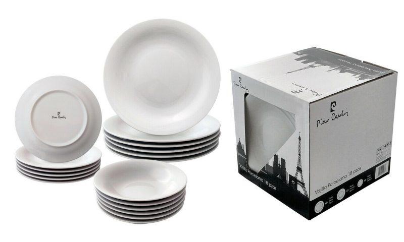 Vajilla de cocina 18 piezas de porcelana Pierre Cardin