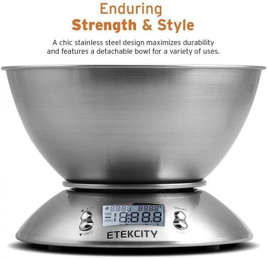 Báscula Digital para Cocina con Tazón Removible. Etekcity EK4150