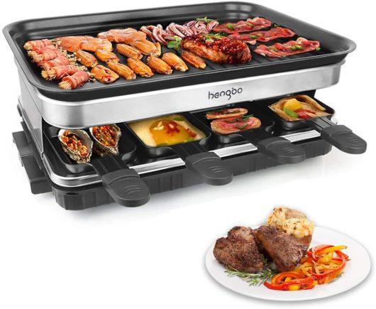 Grill con 8 Mini Sartenes 1500W Negro