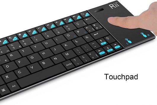 Teclado con touchpad Rii K12 Mini