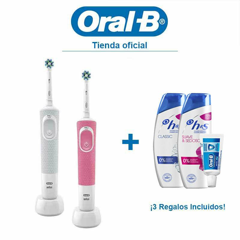 Cepillo Dientes Eléctrico Recargable Oral-B Vitality 100 CrossAction – Pack 2 ud