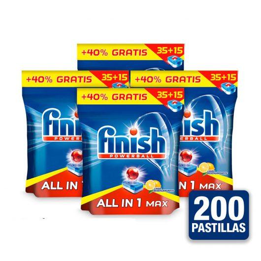 Finish 4x All in One 35+15 Pastillas Limón
