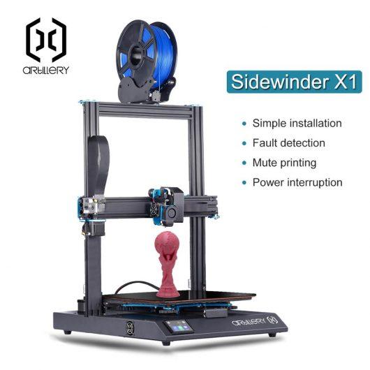 Impresora 3D de artillería Sidewinder X1 SW-X1