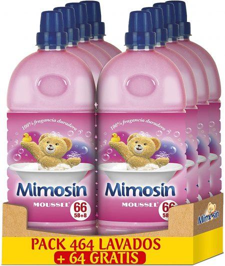 Suavizante Mimosin Moussel 66 lav x 8 botellas