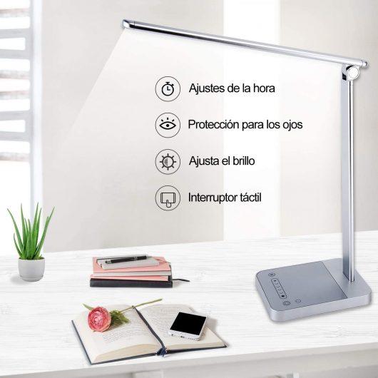 Lámpara escritorio LED con 6 Niveles.
