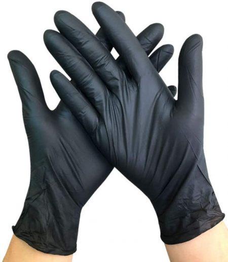 Guantes de nitrilo negro 100 Pcs.