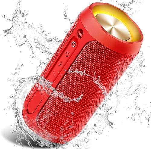 Altavoz Portátil Bluetooth, 24W Impermeable IPX7 Sonido Estéreo TWS, Construido en Micrófono y Manos Libres, Bluetooth 5.0 + AUX Play, Altavoz inalámbrico Portátil – Red