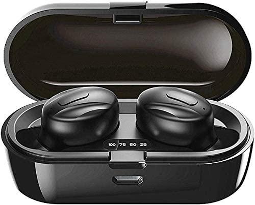 Auriculares Bluetooth, 2020 Auriculares Inalambricos Bluetooth con CVC 8.0 cancelación de Ruido, Cascos inalambricos Bluetooth internos de 15 Horas para Sport Android iOS PC(B-L-061)