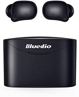 Auriculares Bluetooth, Bluedio T Elf2 Auriculares Inalámbricos Estéreo In-Ear Bluetooth 5.0 Auriculares con Llamadas Binaurales de Micrófono, Control Táctil, Emparejamiento Fácil, Total de 35 Horas