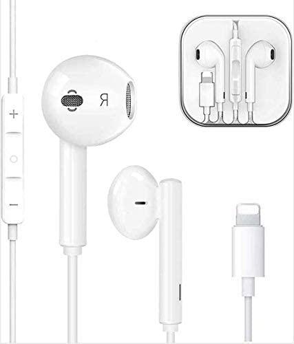 Auriculares Bluetooth con Microphone estéreo y Control de Volumen para los iOS Phones 【12/8/78Plus/7/7Plus/X/XR/XS/XS Max/11/11Pro,etc 】(W-01)