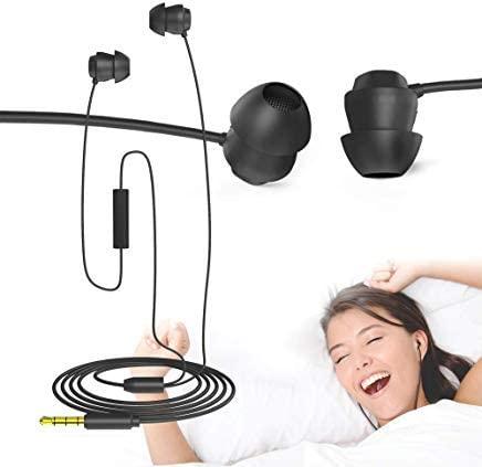 Auriculares para Dormir, Lauva Suaves y Cómodos Auriculares para Dormir Tapones para Los oídos Auriculares con Micrófono para el Insomnio, De Lado, Durmiente Ligero, Ronquidos, Viajes, Meditación
