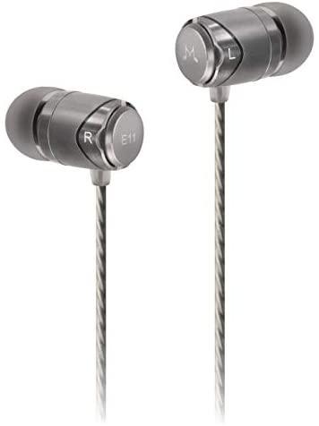 Auriculares Internos, SoundMAGIC E11 Auriculares con Cable Auriculares ergonómicos con cancelación de Ruido de Conector de 3,5 mm Universal para iPhone, teléfonos Inteligentes Android (Plateado)