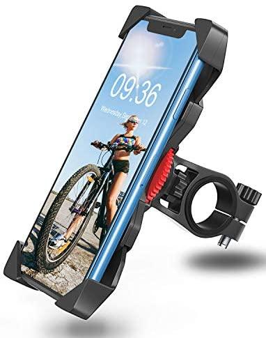 "Bovon Soporte Movil Bicicleta, Anti Vibración Soporte Movil Bici Montaña con 360° Rotación para Moto Bici, Universal Manillar Compatible con iPhone 11 Pro Max/11 Pro/11/X/8, Samsung y 3.5""-6.5"" Móvil"