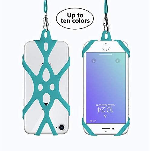Correa Universal para el Cuello del teléfono Celular Correa para el Cuello Funda de la muñeca Correa para la muñeca para el iPhone 6 6S 7 Plus 8 Galaxy S7 S7 LG HTC Huawei P9 P8 (Azul de Watchet)