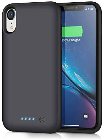 Funda Batería para iPhone XR, iPosible [6800mAh] Funda Cargador Portatil Batería Externa Ultra Carcasa Batería Recargable Power Bank Case para iPhone XR [6.1 Pulgadas] [24 Meses Garantía]