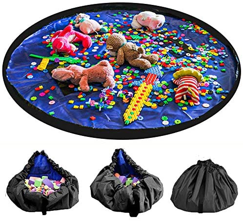Mochila de malla grande para ni/ños para playa con cord/ón resistente para ni/ños y ni/ños para guardar juguetes bolsos los juguetes no est/án incluidos tela Rosa 24x48cm