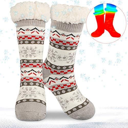 Magicfun Calcetines de Lana Mujeres, Super Gruesa Suave Cómodo Calcetines de Lana Gruesa de Invierno Casa Abrigados Calcetines de Mujeres