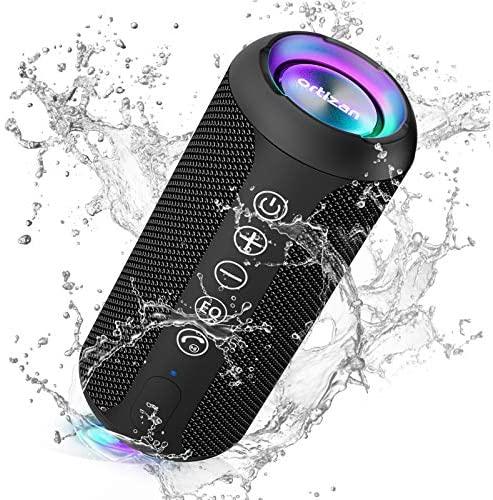 Ortizan Altavoz Bluetooth con Luz, Altavoz Inalámbrico Portatiles, Waterproof IPX7,30 Horas de Reproducción, Efecto de Triple Bajo,Sonido Estéreo TWS,Speaker Bluetooth 5.0