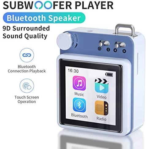 Reproductor de MP3 MYMAHDI, Alta resolución y Pantalla táctil Completa, Reproductor de Sonido HiFi sin pérdida de 40 GB con Bluetooth 5.0 y Altavoz Externo, Radio FM, admite hasta 128 GB