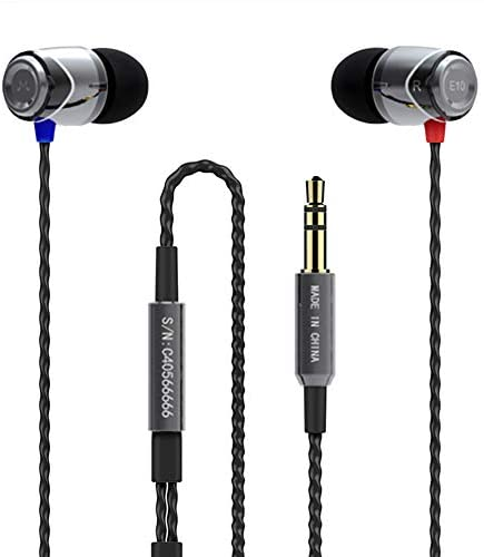 SoundMAGIC E10 Auriculares In Ear, Auriculares para teléfonos Inteligentes con Cable,Auriculares Estéreo con Aislamiento de Ruido para, Todos los Dispositivo de Interfaz de 3,5mm,Gunmetal