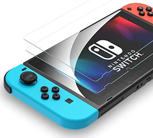 Syncwire Protector de Pantalla para Nintendo Switch Cristal Templado Pantalla (Pack de 2) – [Sin Burbujas, HD, a Prueba de Rotura, arañazos-Resistente y de fácil instalación]