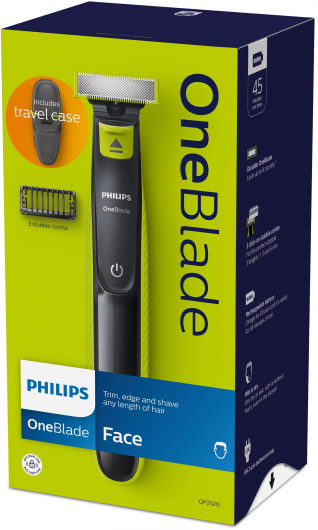 Philips, OneBlade, por 23,99€, Recortador de Barba con 3 Peines