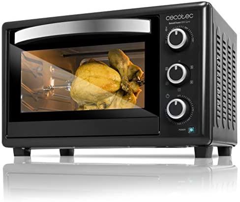 Cecotec Bake&Toast 650 Gyro – Horno Conveccion Sobremesa, capacidad de 30 litros, 1500 W, 5 Modos, Temperatura hasta 230ºC y Tiempo hasta 60 Minutos