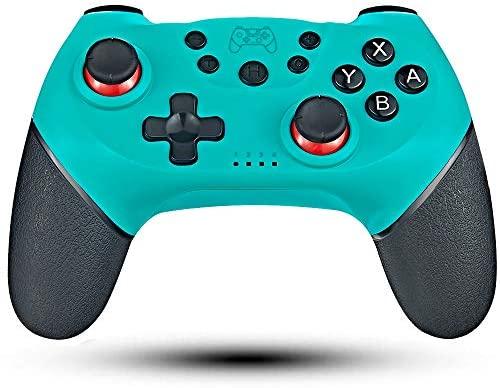 Maegoo Mando Inalámbrico para Nintendo Switch y Switch Lite, Bluetooth Wireless Nintendo Switch Pro Mando Controlador Gamepad Joypad Joystick Admite Sensor 6 Gyro Axis, Turbo y Dual Motor Vibration