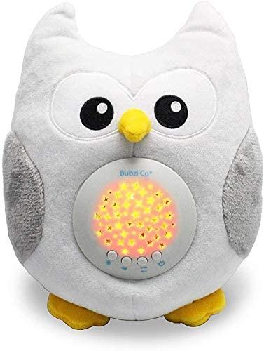 Peluche para Bebé Búho – Máquina de Ruido Blanco – Luz quitamiedos Infantil – Regalo para Bebé Niña – Regalo de Baby Shower – Calmante del Sueño – Regalo para Recién Nacido