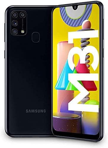 """Samsung Galaxy M31 – Smartphone Dual SIM, Pantalla de 6.4"""" sAMOLED FHD+, Cámara 64 MP, 6 GB RAM, 64 GB ROM Ampliables, Batería 6000 mAh, Android, Versión Española, Color Negro"""