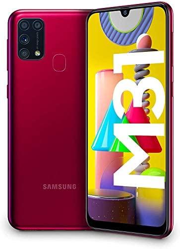 """Samsung Galaxy M31 – Smartphone Dual SIM, Pantalla de 6,4"""" sAMOLED FHD+, Cámara 64 MP, 6 GB RAM, 64 GB ROM Ampliables, Batería 6000 mAh, Android, Versión Española, Color Rojo"""