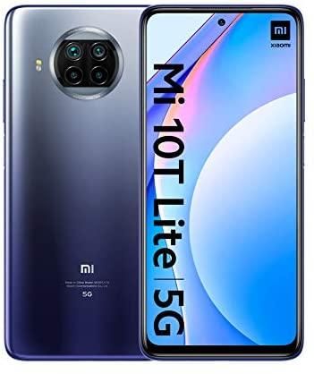 "Xiaomi Mi 10T Lite 5G – Smartphone 6+64GB, 6,67"" FHD+ DotDisplay, Snapdragon 750G, Cámara cuádruple de 64 MP con IA, 4820 mAh, Azul Atlántico (Versión oficial), con Alexa Hands-Free"