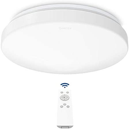 Anten 24W Plafón LED de Techo Regulable con Mando a Distáncia, Lámpara Techo Led Regulable para Dormitorio, Salon, Cocina (Ø275 x 95 mm)