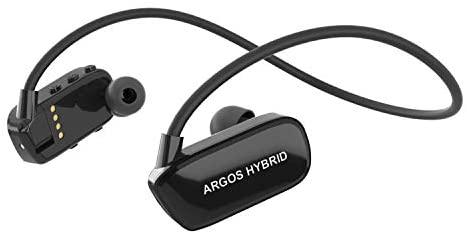 Argos Hybrid Sunstech Reproductor MP3 8GB Bluetooth Sumergible Impermeable IPX8 Diseñado para el Deporte y la natación Batería Recargable 200mAh. Almohadillas terrestres y acuáticas Incluidas. Negro.