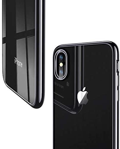"""ESR Funda para iPhone XS/X, Funda Transparente Suave TPU Gel [Ultra Fina] [Protección a Bordes y Cámara] [Compatible con Carga Inalámbrica] Enjaca Apple Nuevo iPhone XS/X de 5.8"""" -Borde Negro"""