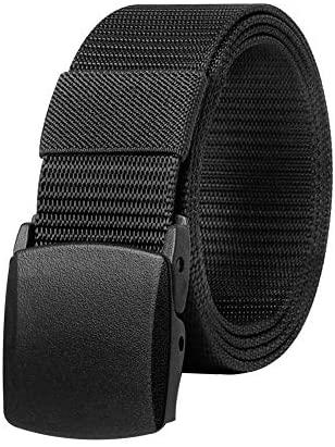 KEYNAT Cinturón Táctico Militar para Hombres Correa de Nylon 3.8x125cm Ajustable con YKK Hebilla de Plástico Libre de Metal, Cinturón Tela Transpirable