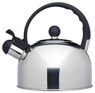 Kitchencraft Le ´Xpress–Hervidor de agua con silbido, apto para inducción, hornillo,, 1,3litros–acero inoxidable
