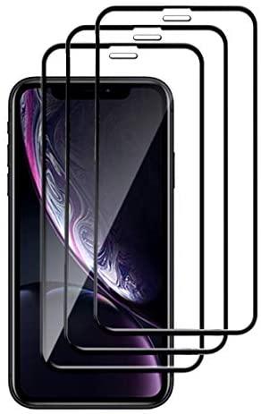 LAYJOY Protector Pantalla para iPhone XR/11, [3-Pack] Cristal Templado con [9H Dureza] [Alta Sensibilidad] [Alta Definicion] [Cobertura Completa] Vidrio Templado – Negro