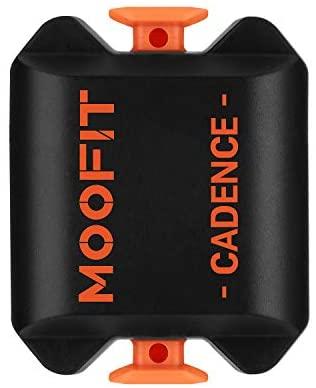 moofit Sensor Cadencia de Ciclismo con Bluetooth & Ant+ Medidor de Cadencia pedaleo de Bicicleta Impermeable IP67 para Wahoo Rouvy Zwift iCardio para iOS, Android
