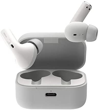 Nokia Essential True Wireless – Auriculares y Estuche portátil de Carga (IPX5 de Resistencia al Agua, reducción del Ruido, micrófono Dual y Modo Ambiente) Blanco