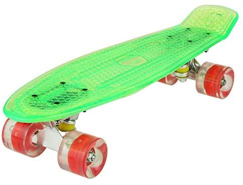 WeSkate Cruiser – Monopatín completo Mini Skateboard de 22 pulgadas y 55 cm Penny Board con ruedas de poliuretano LED, rodamientos ABEC-7, regalo para adultos adolescentes y niñas