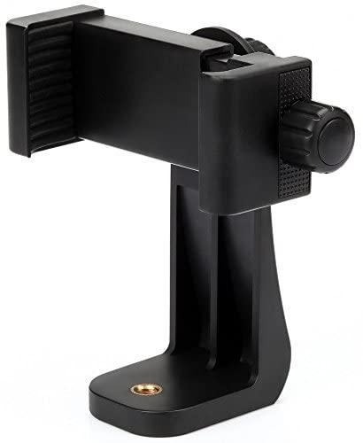 Zacro Soporte para Teléfono Móvil Trípode con Ajustable Abrazadera-Negro (Rotación de 360°) para Trípode Trípode Selfie Stick Monopod, Universal Smartphone Adapter Soporte para Teléfono Móvil