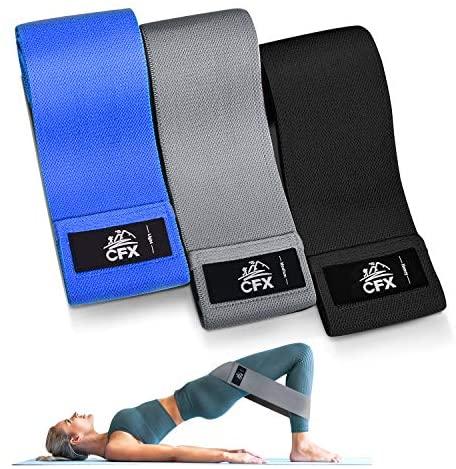 CFX Bandas Elasticas, Juego de 3 Bandas Elásticas Musculacion para Fitness con 3 Niveles, Resistencia Antideslizante para Piernas y Glúteos,Pilates,Yoga,Fuerza,Fisioterapia,Estiramientos